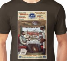 Vintage Pullman Compartment Cars Train Railroad Avertisement Unisex T-Shirt