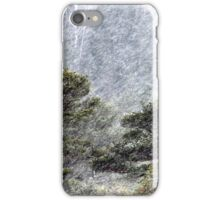 9.11.2016: Pine Trees in Snowstorm III iPhone Case/Skin