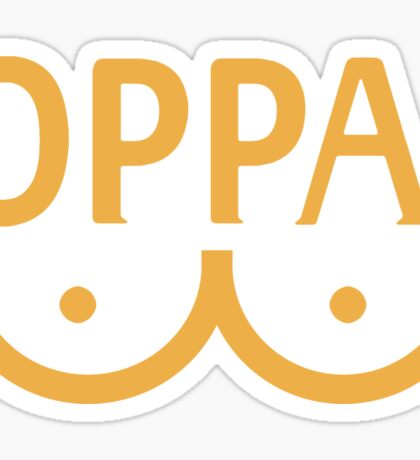 "Oppai ""One Punch man"" Sticker"