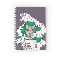Burnout - Green haired lady covered in smoke  Spiral Notebook