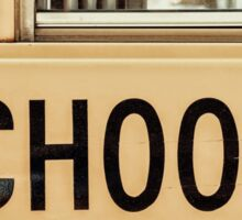 Back To School American Bus Style Sticker