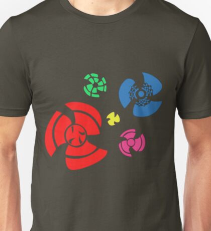 Pinwheel whirligigs Spoked wheel coloured Unisex T-Shirt