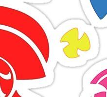 Pinwheel whirligigs Spoked wheel coloured Sticker
