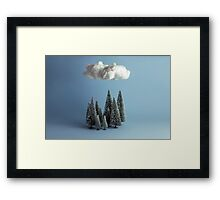 A cloud over the forest Framed Print