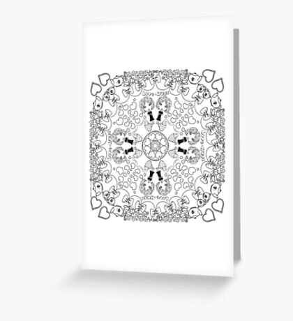 Love and Hugs - DIY Color!  Greeting Card