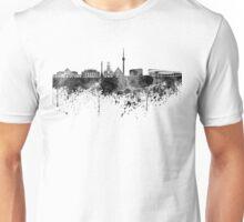 Stuttgart skyline in black watercolor Unisex T-Shirt