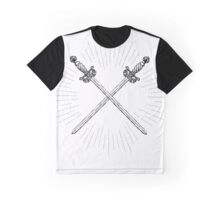 Two Crossed Vintage Swords Graphic T-Shirt