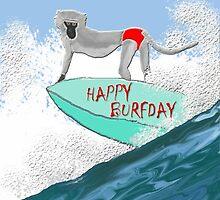 happy burfday by eleventimes