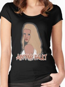 Ain't my fault - Color Blue Women's Fitted Scoop T-Shirt