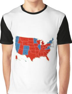 Donald Trump 45th US President - USA Map Election 2016 Graphic T-Shirt