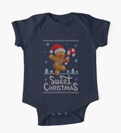Sweet Christmas Ugly Sweater. Dulce NAvidad One Piece - Short Sleeve