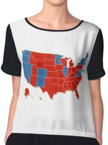 Donald Trump 45th US President - USA Map Election 2016 Chiffon Top