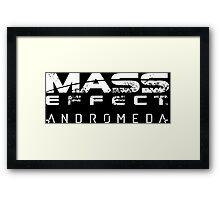 mass effect andromeda Framed Print