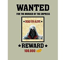Dishonored Corvo Wanted Dead or Alive Photographic Print