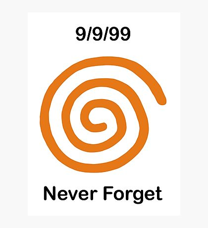 Dreamcast Never Forget (NTSC) Photographic Print