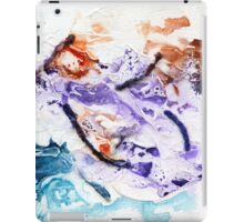 Red and blue abstract iPad Case/Skin