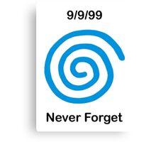 Dreamcast Never Forget (PAL) Canvas Print