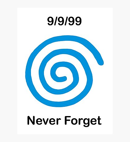 Dreamcast Never Forget (PAL) Photographic Print
