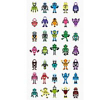 Robot Characters Poster Photographic Print