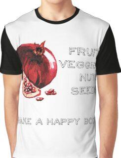 Vegan Statement Fruits Vegetables Graphic T-Shirt