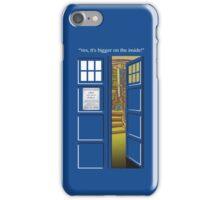 Doctor Who Tardis Bigger Inside iPhone Case/Skin