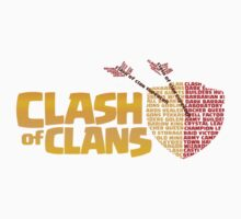 clash of clan logo typography by Trish08