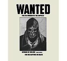 Dishonored Attano Corvo Wanted Photographic Print