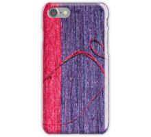 Blue and Red Handmade Thai Silk iPhone Case/Skin