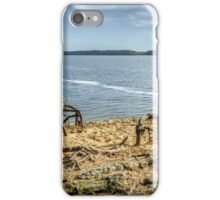Trees roots near the lagoon iPhone Case/Skin