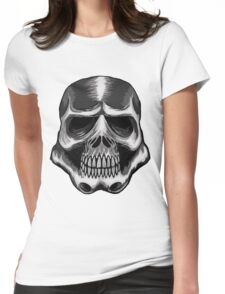 Trooper Skull Womens Fitted T-Shirt