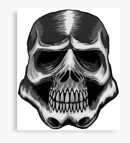 Trooper Skull Canvas Print