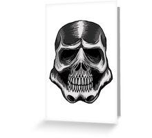 Trooper Skull Greeting Card