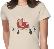Santa Pengy Womens Fitted T-Shirt