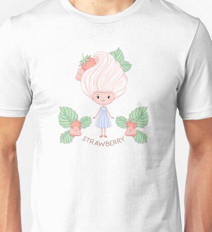 Strawberry ice cream girl Unisex T-Shirt