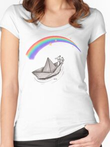 Follow Your Rainbow Women's Fitted Scoop T-Shirt