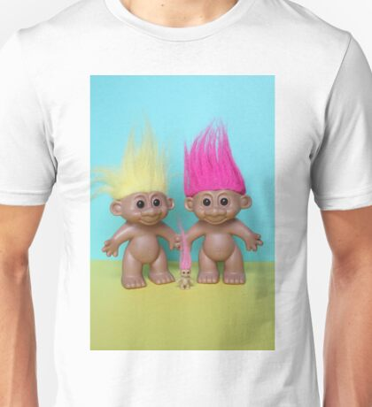 Trolls with their new baby troll Unisex T-Shirt