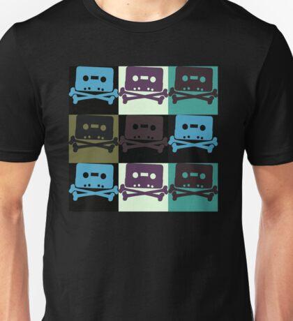 Music Tape Skull and Bones Unisex T-Shirt