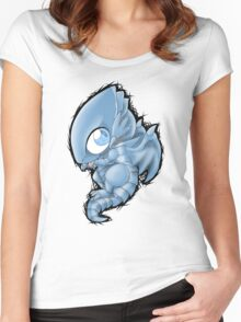 Blue Eyes Chibi Dragon Women's Fitted Scoop T-Shirt