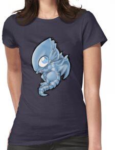 Blue Eyes Chibi Dragon Womens Fitted T-Shirt
