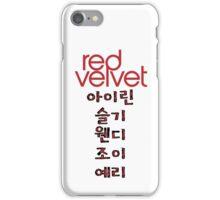 RED VELVET iPhone Case/Skin