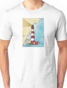 Assateague Lighthouse VA Nautical Chart Cathy Peek Unisex T-Shirt