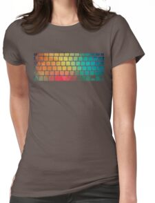 Rainbow color pattern keyboard Womens Fitted T-Shirt