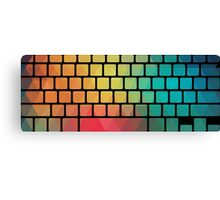 Rainbow color pattern keyboard Canvas Print