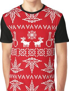 Christmas sweater pixel weed  Graphic T-Shirt