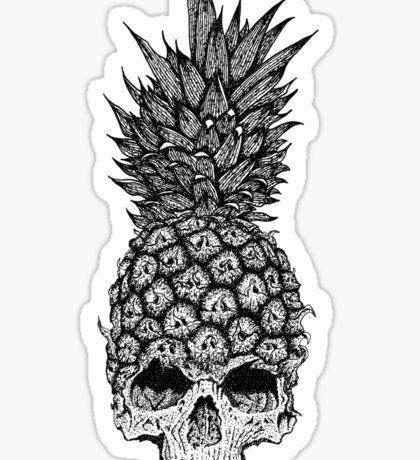 pineapple skull Sticker