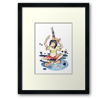 Chihiro's stack of friends Framed Print