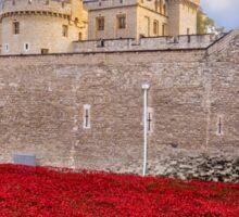 Tower Of London Poppy Display Sticker