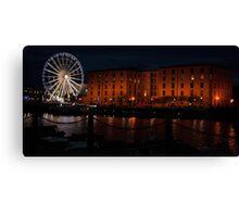 Liverpool Albert Dock Night I Canvas Print