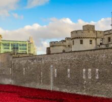 Tower Of London Poppies Sticker