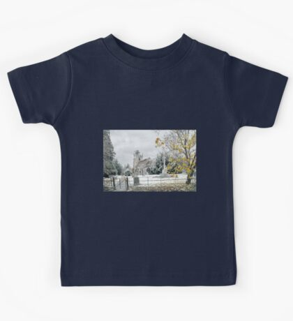 Snow at Claines church Kids Tee